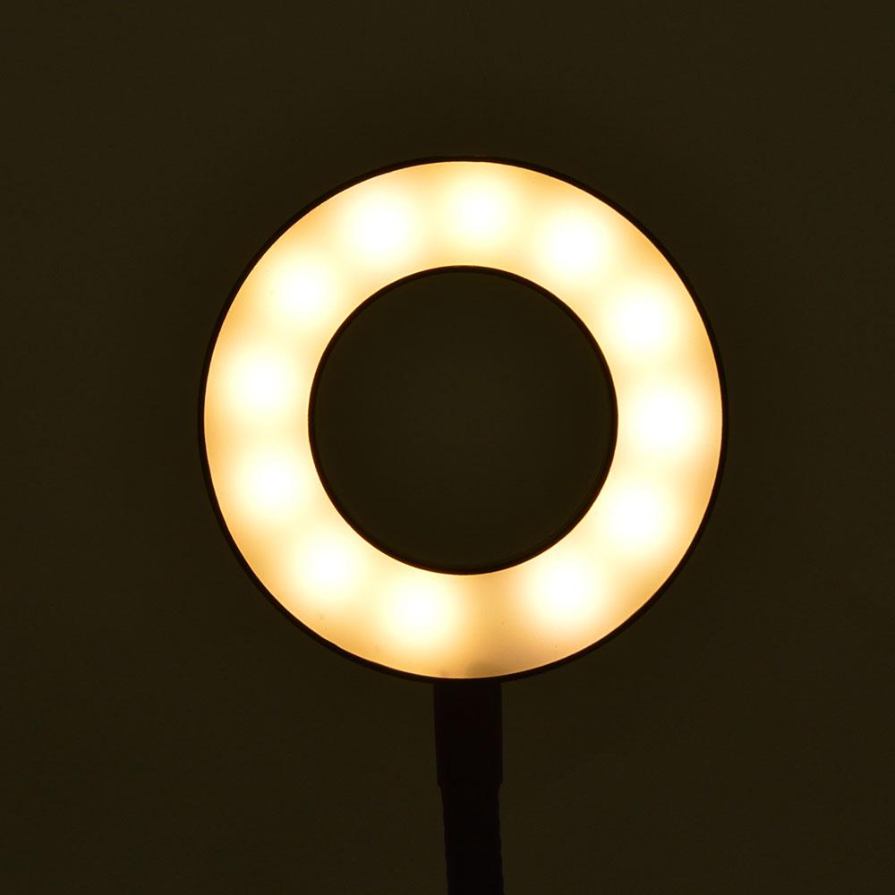 クリップ式調光LEDライト&スマートフォンデュアルアーム