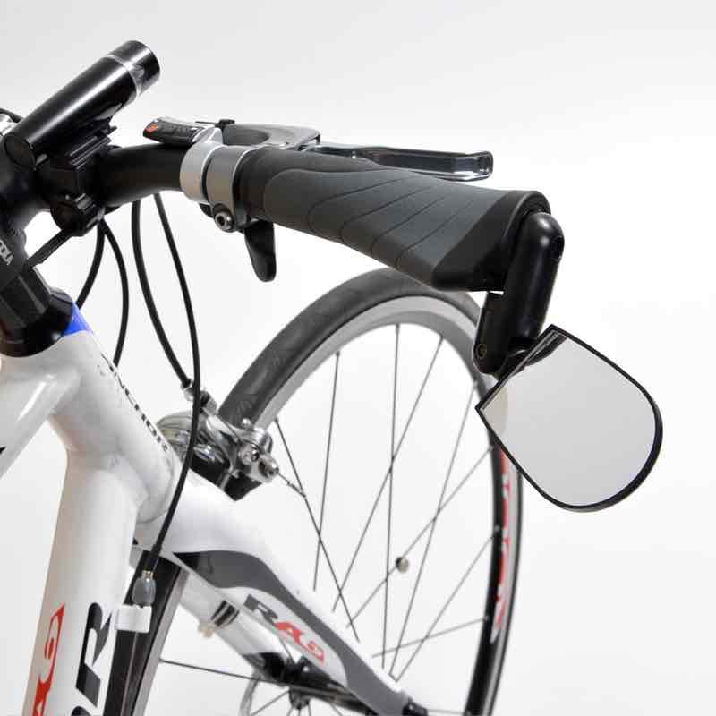 自転車バーエンドバックミラー