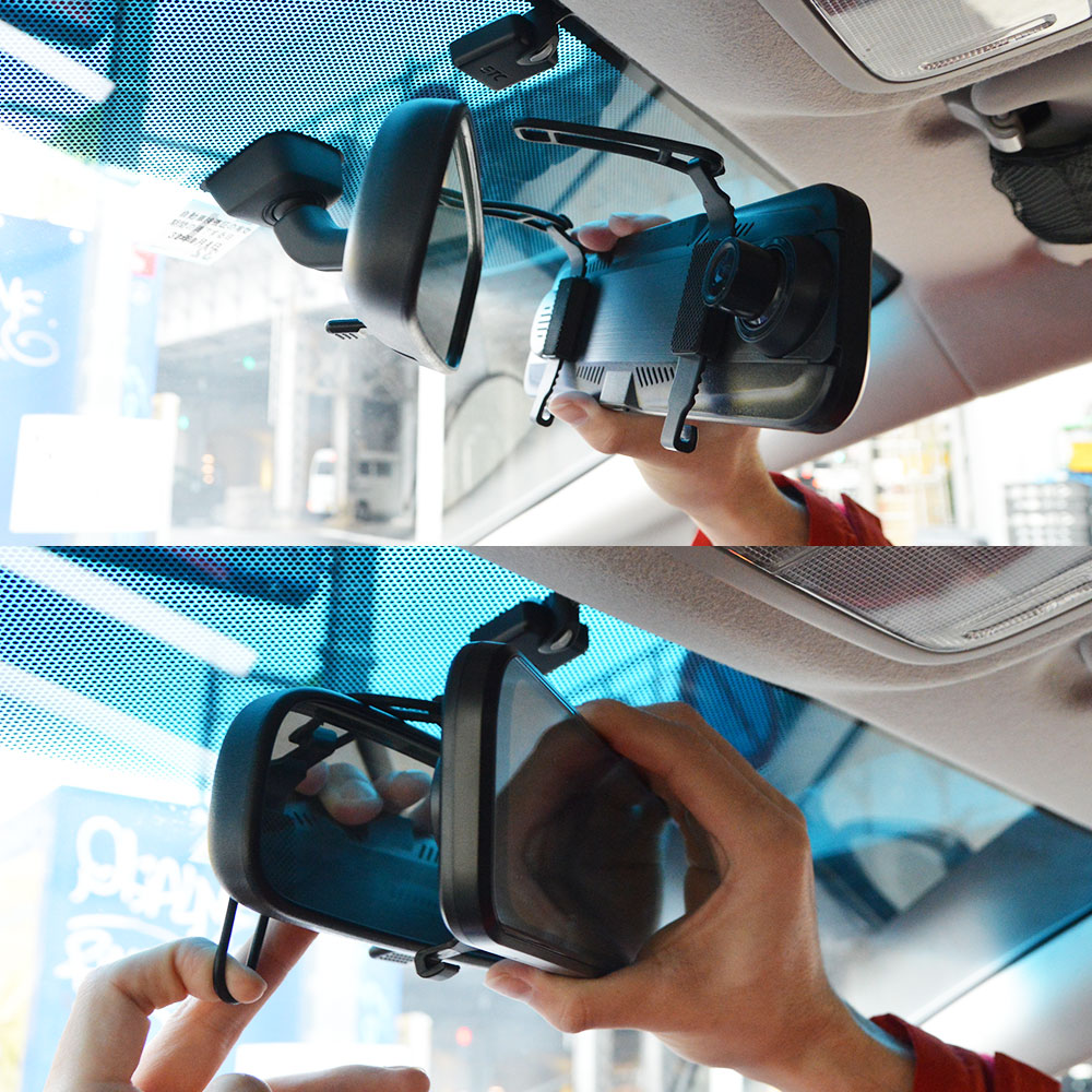 ルームミラーがリアモニターになる!前後撮影ドライブレコーダー2