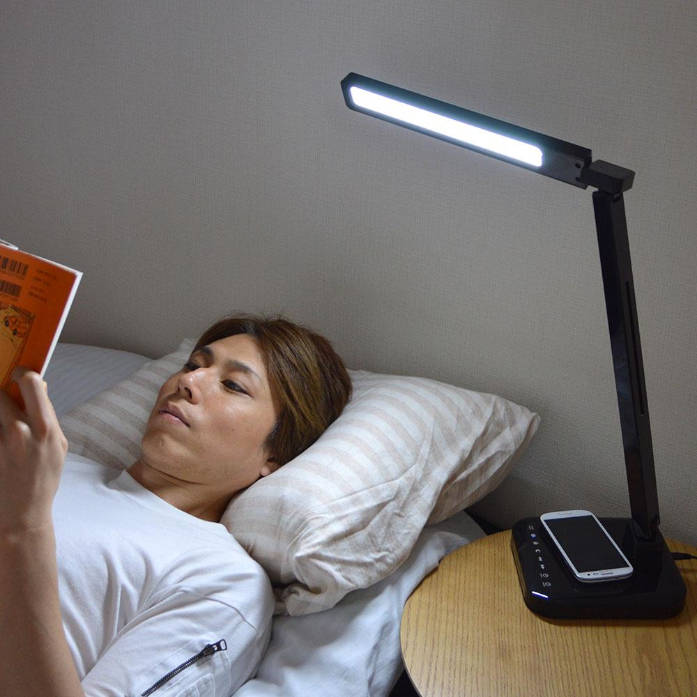 スマホ充電ができるおやすみタイマー付LEDライトスタンド