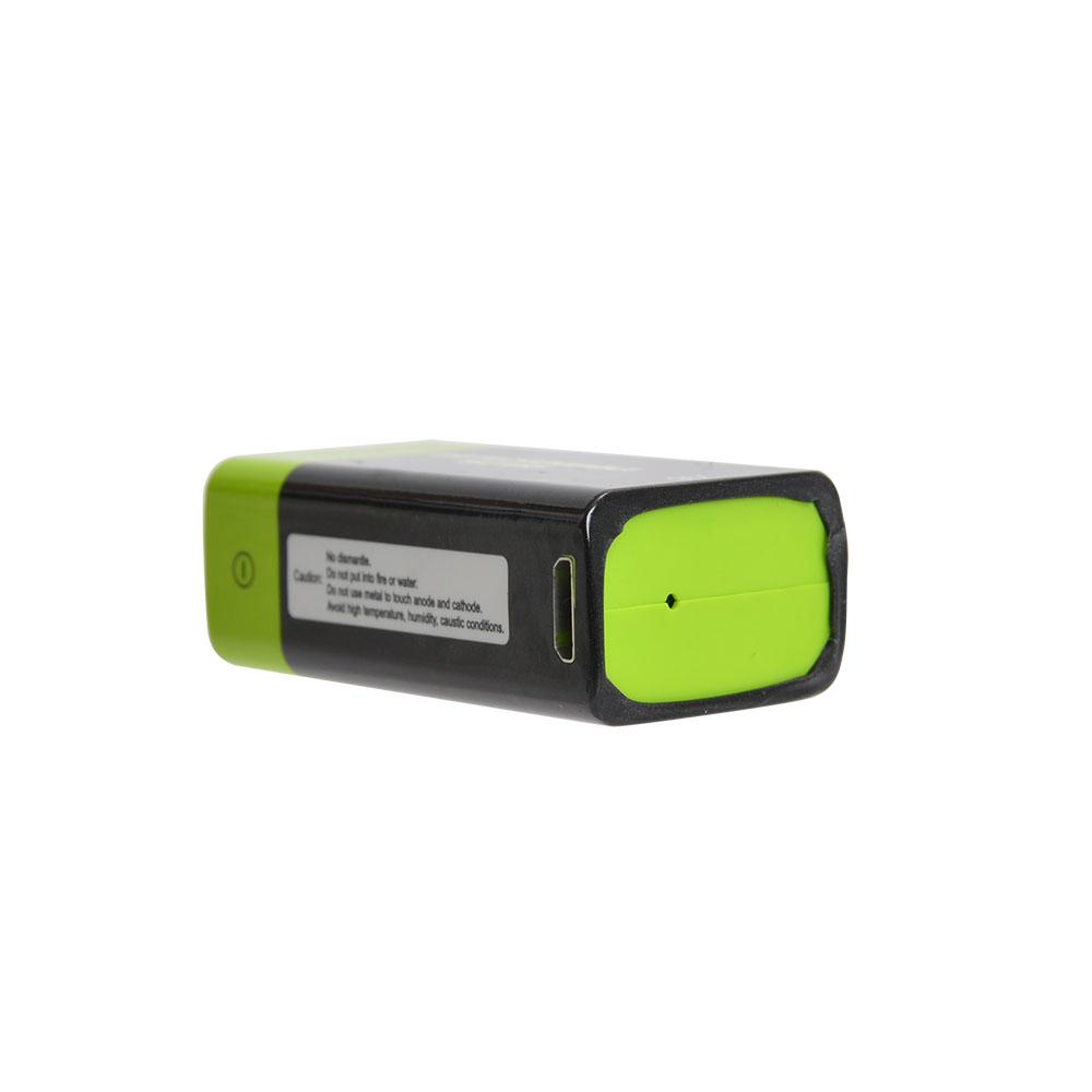 充電器不要!USB充電できる乾電池 9V形