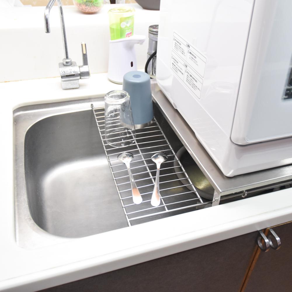 シンクに簡単設置「ラクア用食洗機ラック」(幅×奥行45cm)