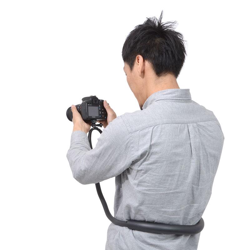 スマホ・カメラが固定できる楽ちんネックアーム