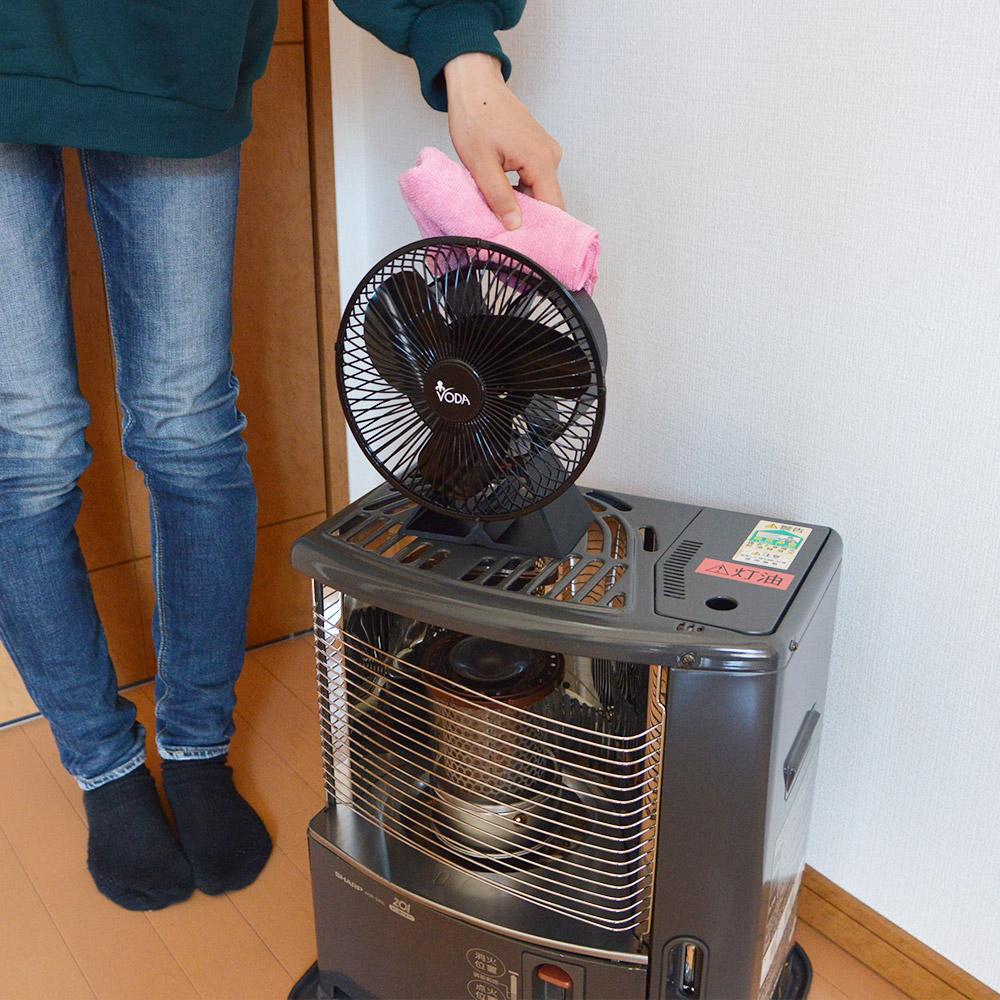 熱の力で回転!ストーブ用ファン「熱風サーキュレーター ガード付き」