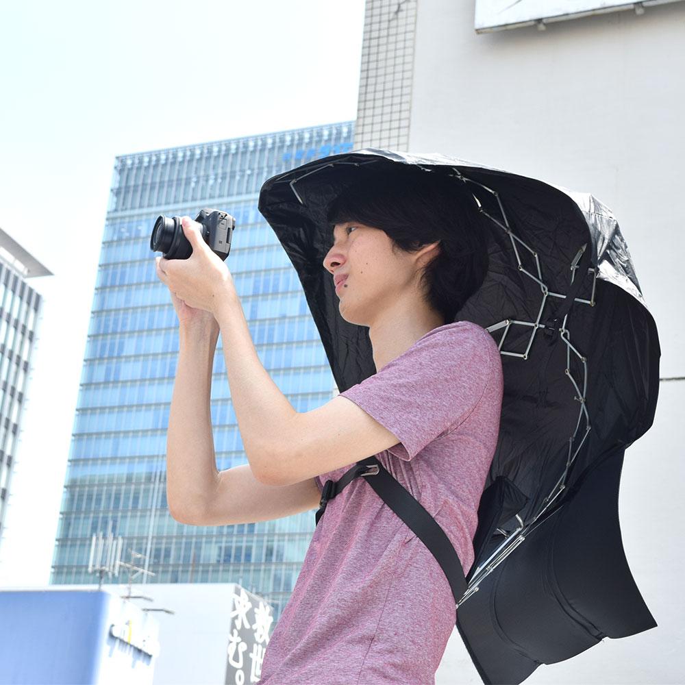 背負う日傘「マイシャドーブレラ」