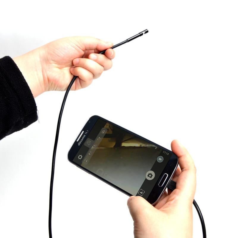 Android対応5.5mm径内視鏡ケーブル 1M