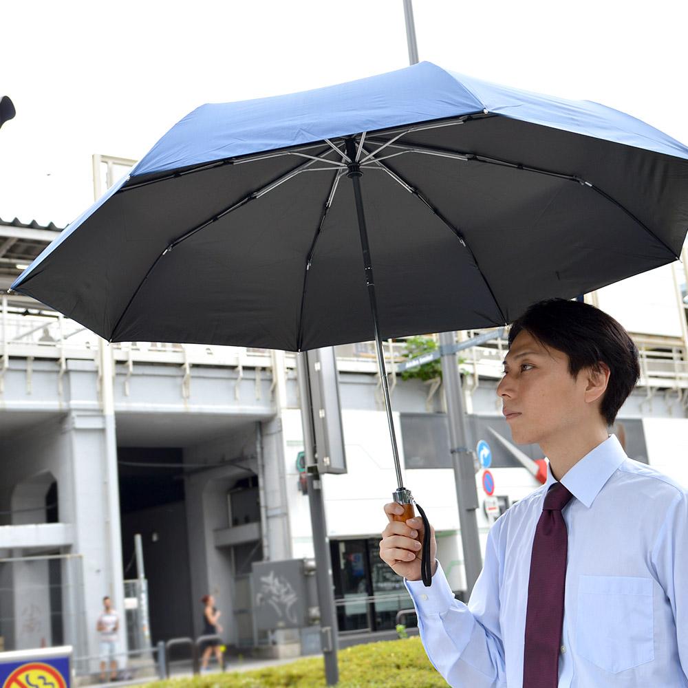 男前日傘「ワイドブルー」