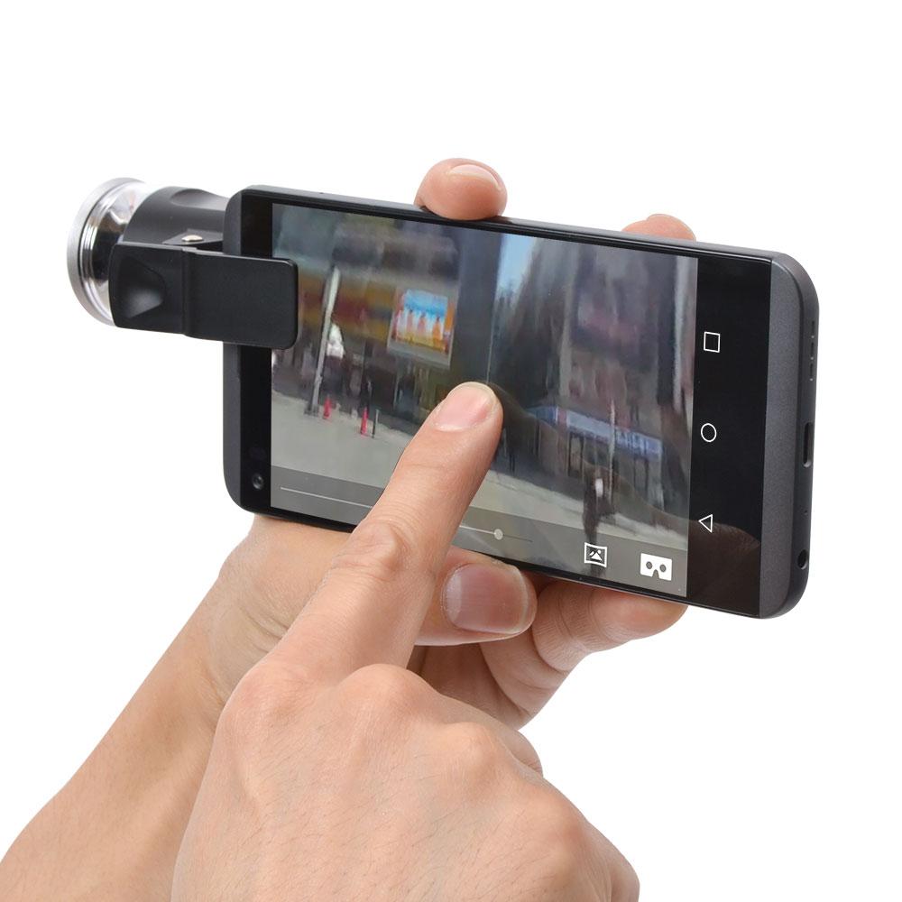 手軽にVR撮影!スマホ用360度クリップ式レンズ