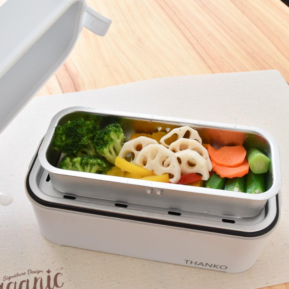 お米もおかずもこれ一台!2段式超高速弁当箱炊飯器