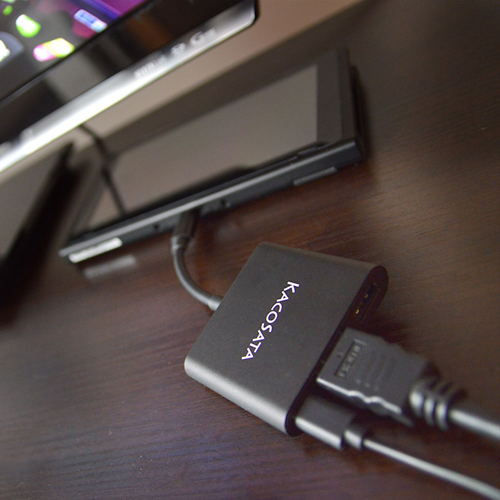 Nintendo Switch用HDMI変換アダプタ「ACアダプタいら〜ず」
