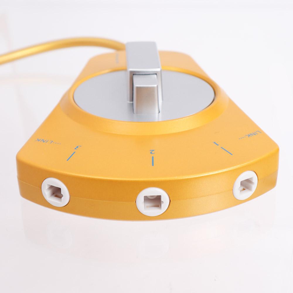 光デジタルオーディオセレクター 光角型3切替器