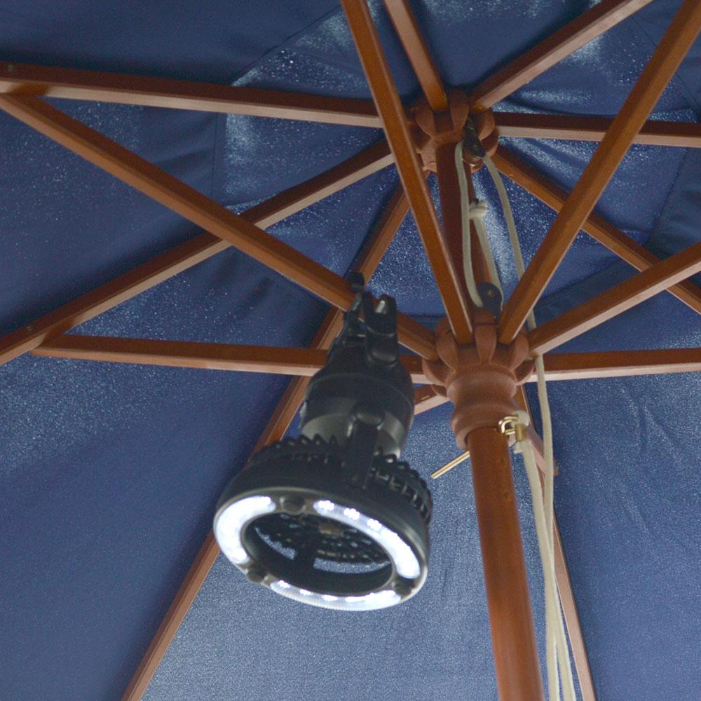 テントで使えるファン付きLEDキャンピングライト