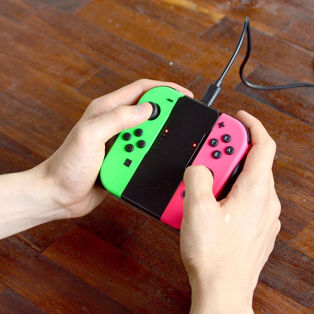 Nintendo Switch用Joy-Con充電握りやすいグリップ