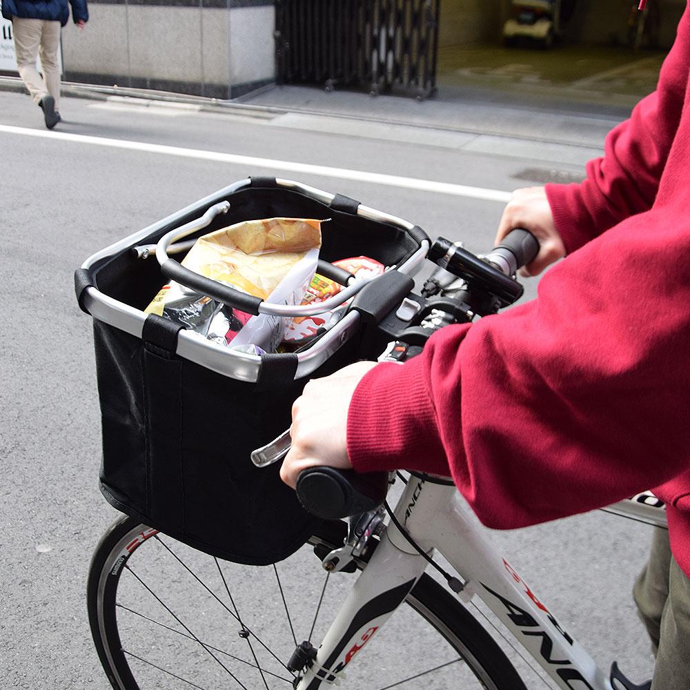 買い物カゴになる!簡単脱着クロス・ロードバイク用カゴ