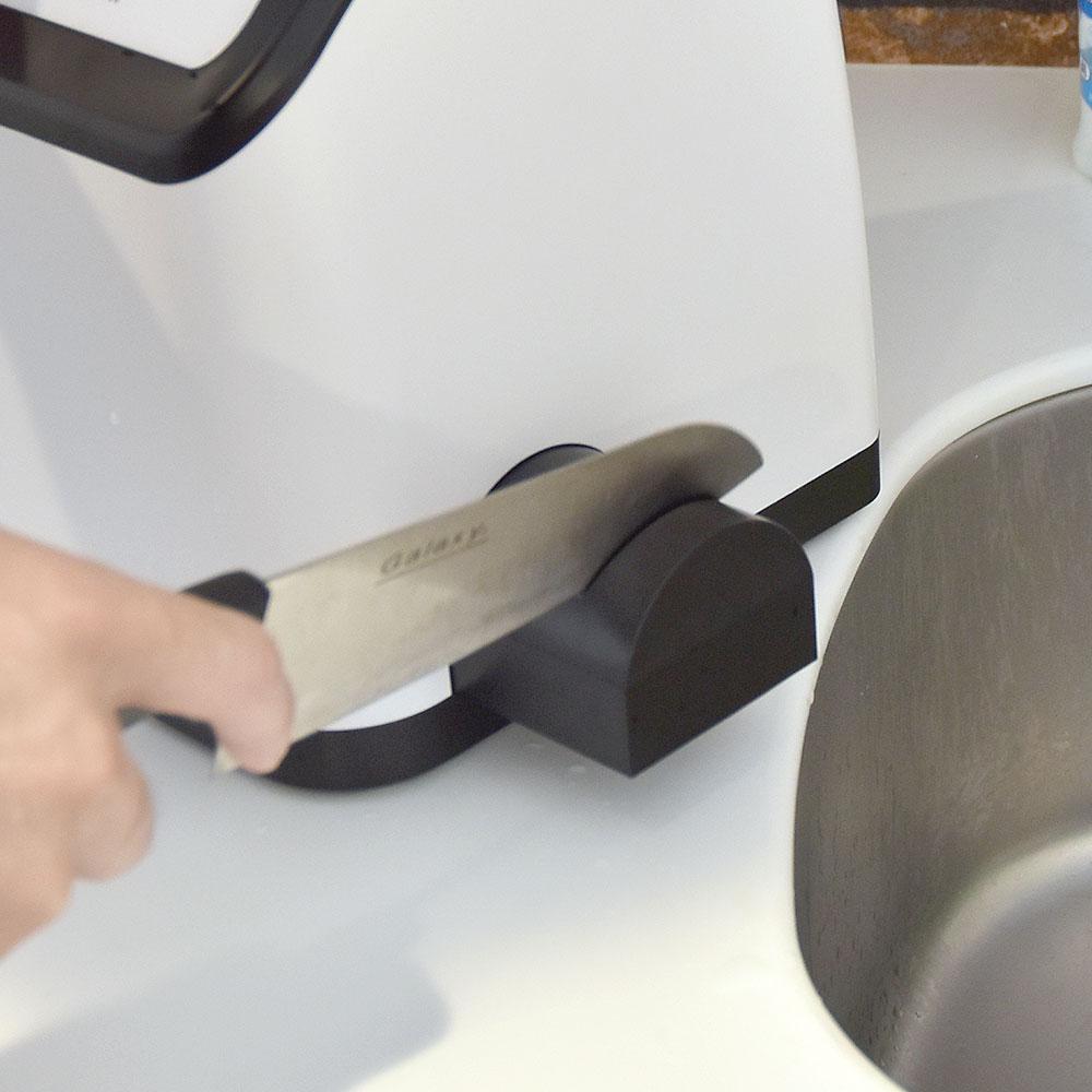 UV除菌乾燥&研ぎ機能付き包丁スタンド