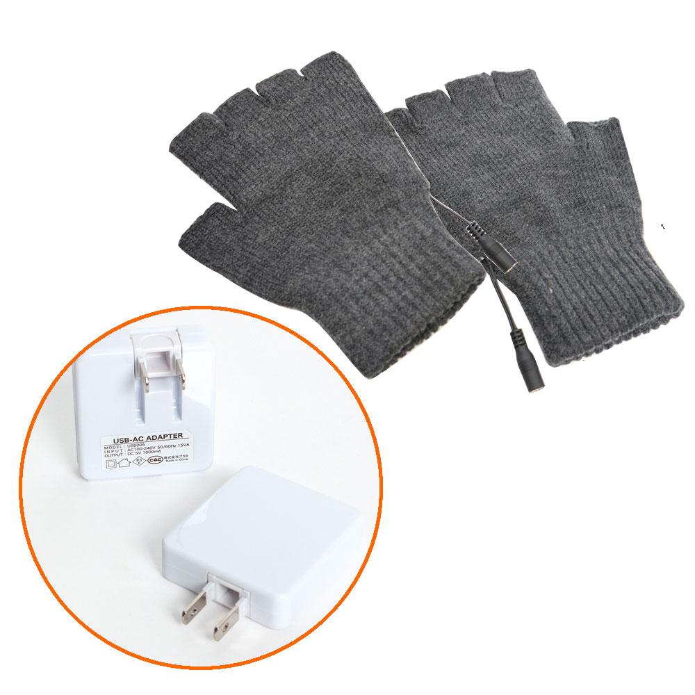 USB指までヒーター手袋2&ACチャージャーセット
