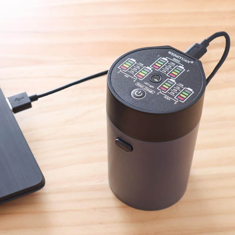入れるだけUSB電池充電器「充電ポット」