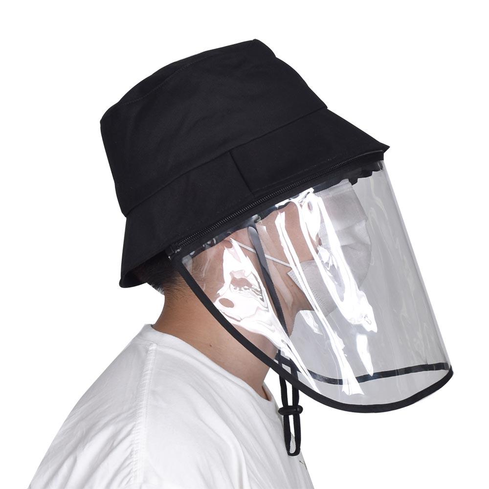 飛沫防止!着脱できるフェイスシールド帽子
