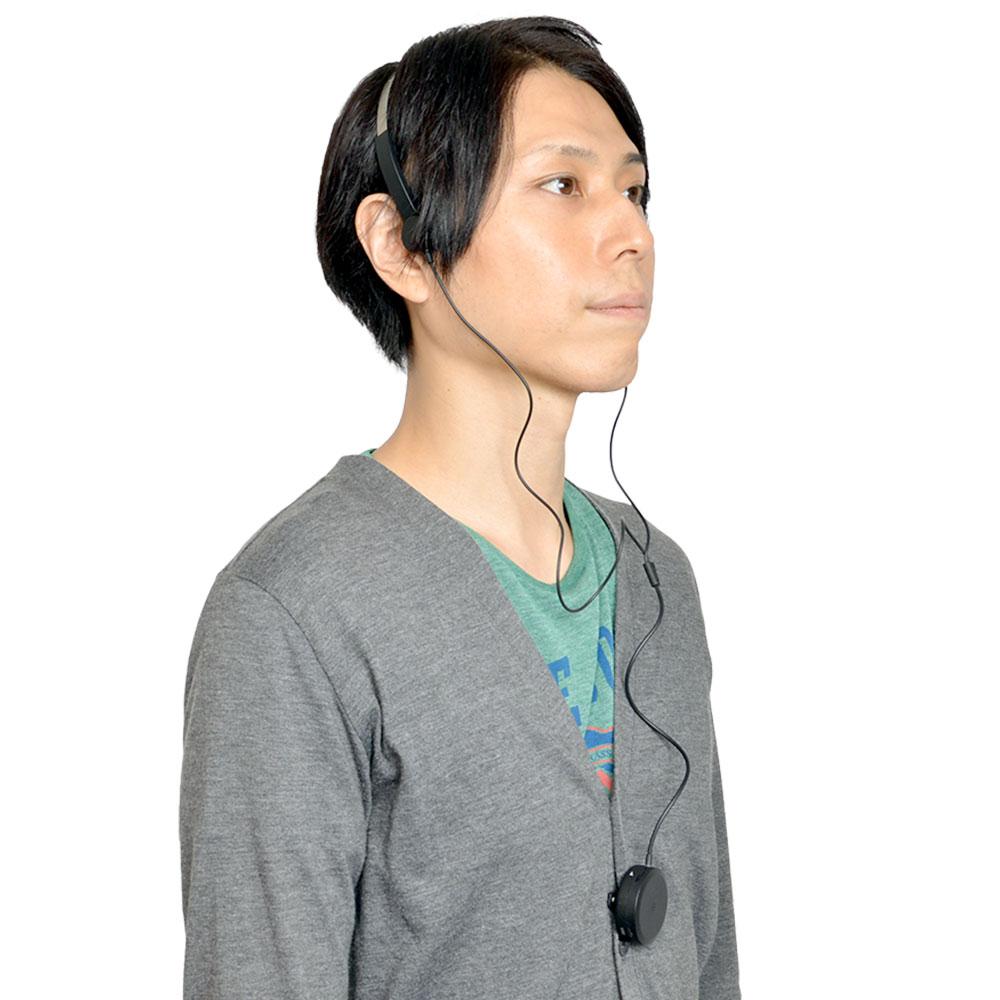 ヘッドフォン型骨伝導集音器