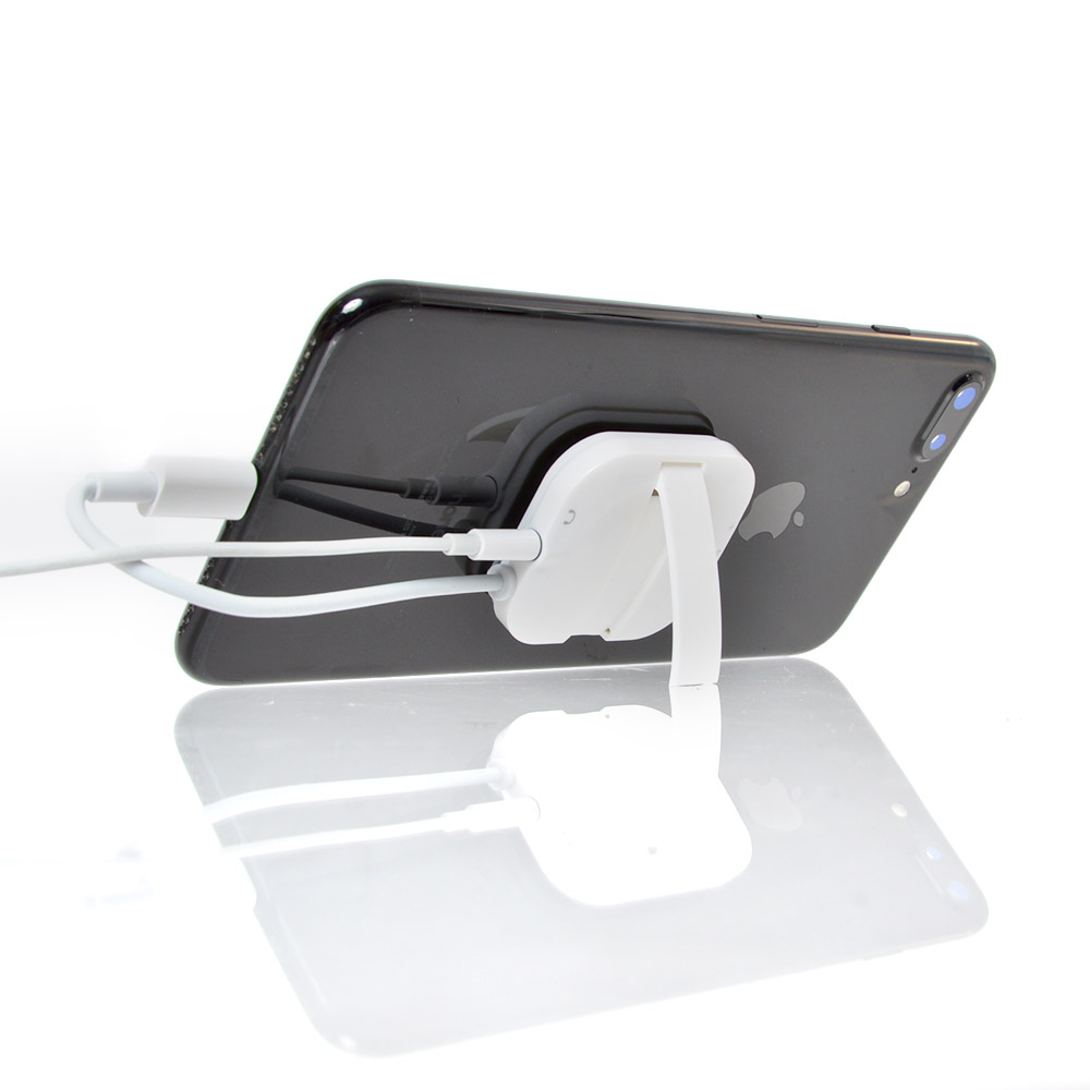 iPhone 12対応「スタンド型ピタッとLightning-イヤホン変換アダプタ」