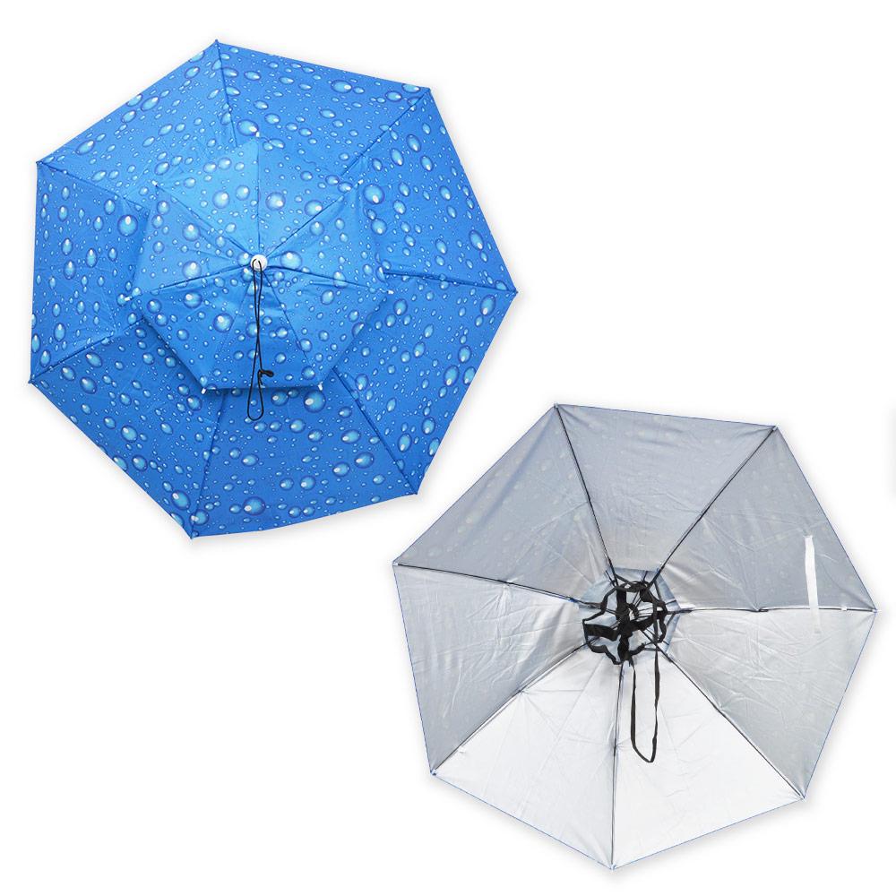 頭にかぶる便利な傘「アタマンブレラ」