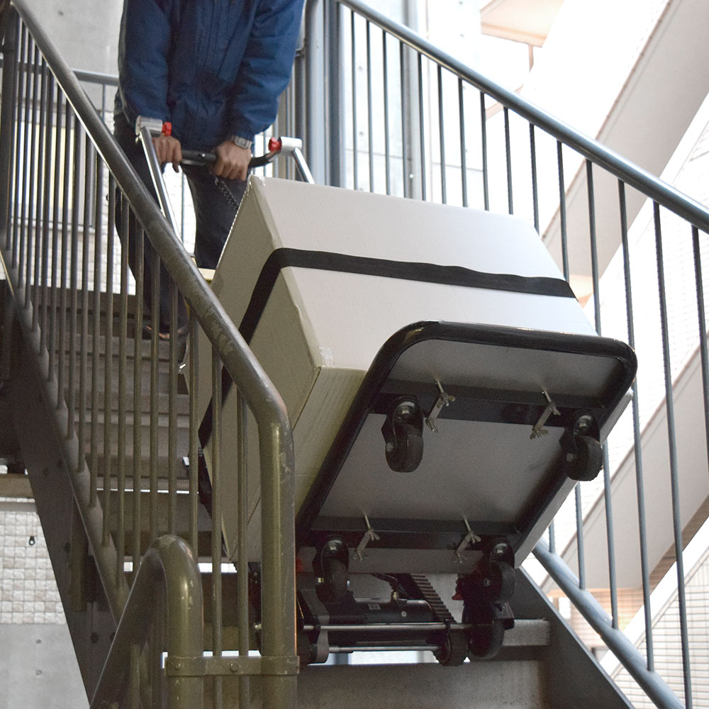 電動階段のぼれる台車ハンドル可変タイプ