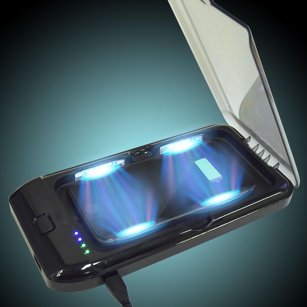 UV除菌&ワイヤレス充電「スマホクリーンルーム」