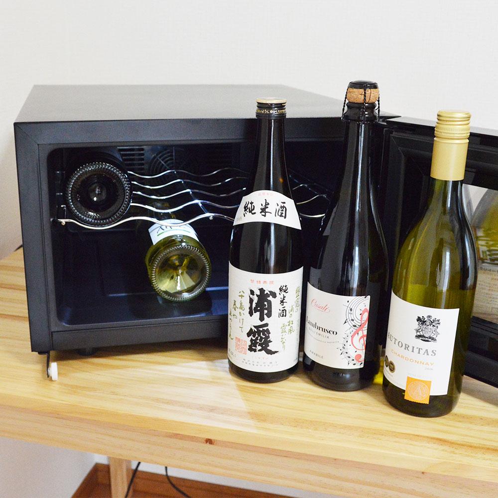 場所を選ばない横置きワインセラー「俺のワイン」