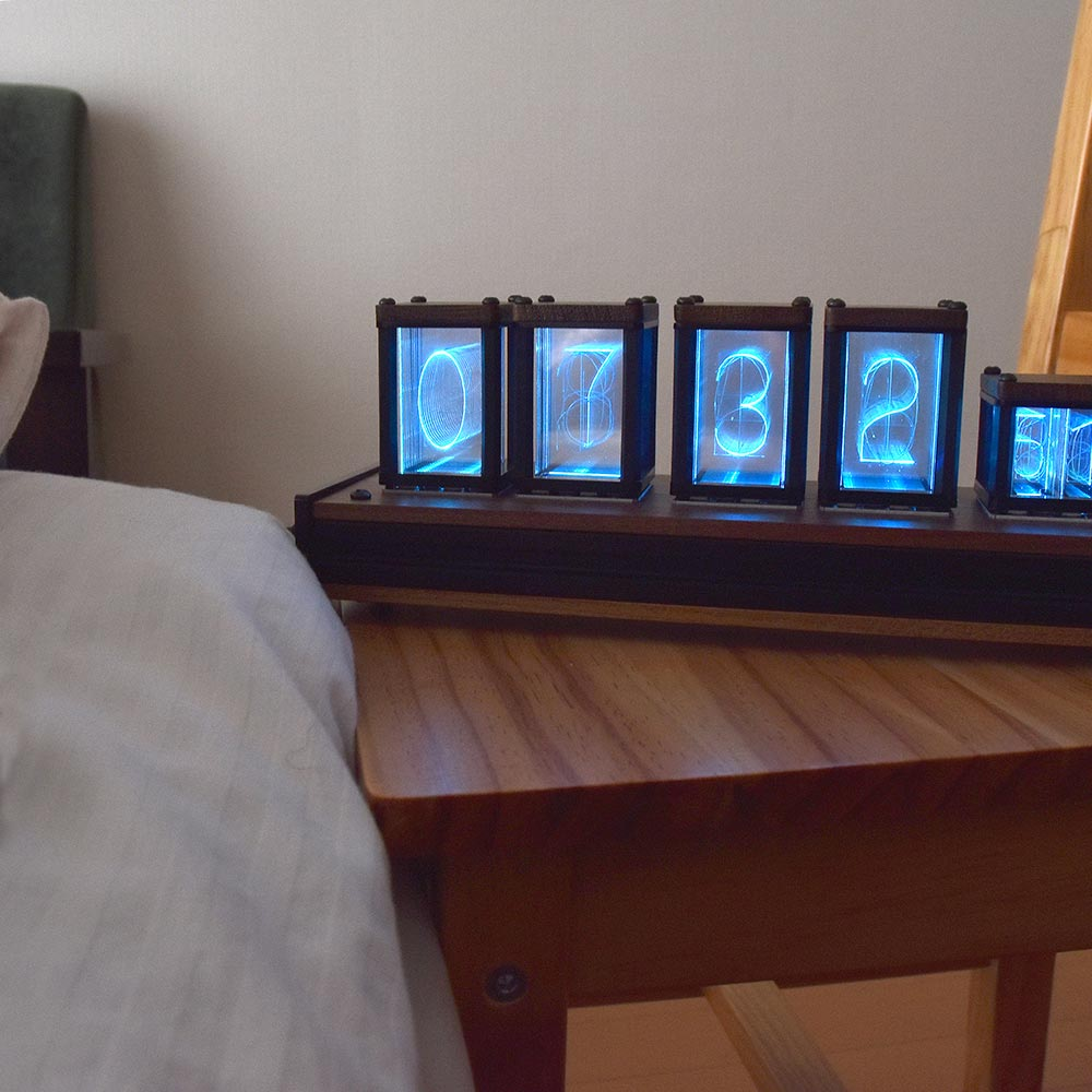 ニキシー管風置時計「サイバーアラーム Ver.1.956」