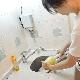 アウトレット食器洗い用セミオート電動ツインヘッドブラシ