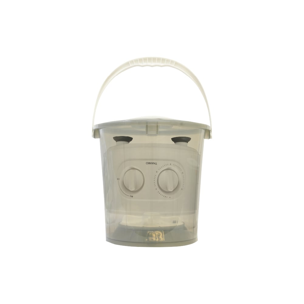 お湯が使えるコンパクト洗濯機「バケツランドリー」