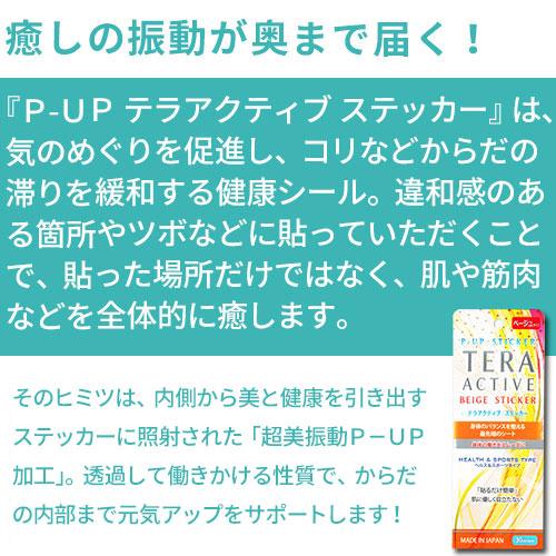 P-UP テラアクティブ ミディアムステッカー(中判タイプ)