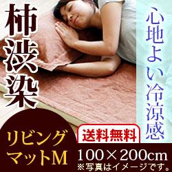 京山城 柿渋染 リビングマットM(100×200cm) 1枚入り