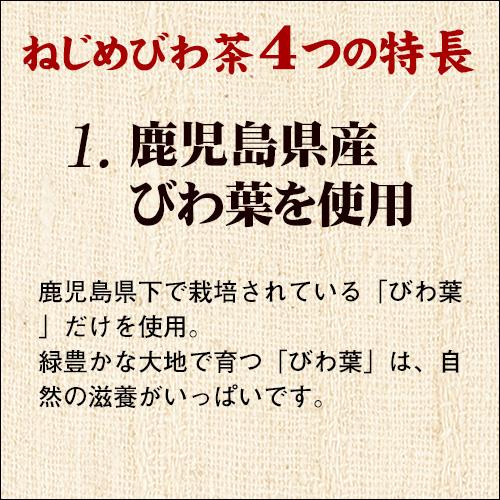 ★送料無料[ネコポス便]でお届け★ ねじめびわ茶 (10包入)【正規品】