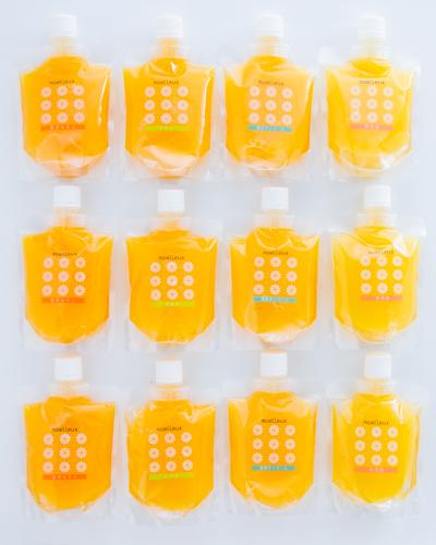 (ご自宅用)飲むゼリー 12個 包装無 愛媛県産 ワッフルアトリエ ムエル | *包装・のし等にはご対応いたしかねます。