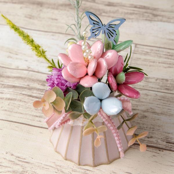 桜の模様の花器