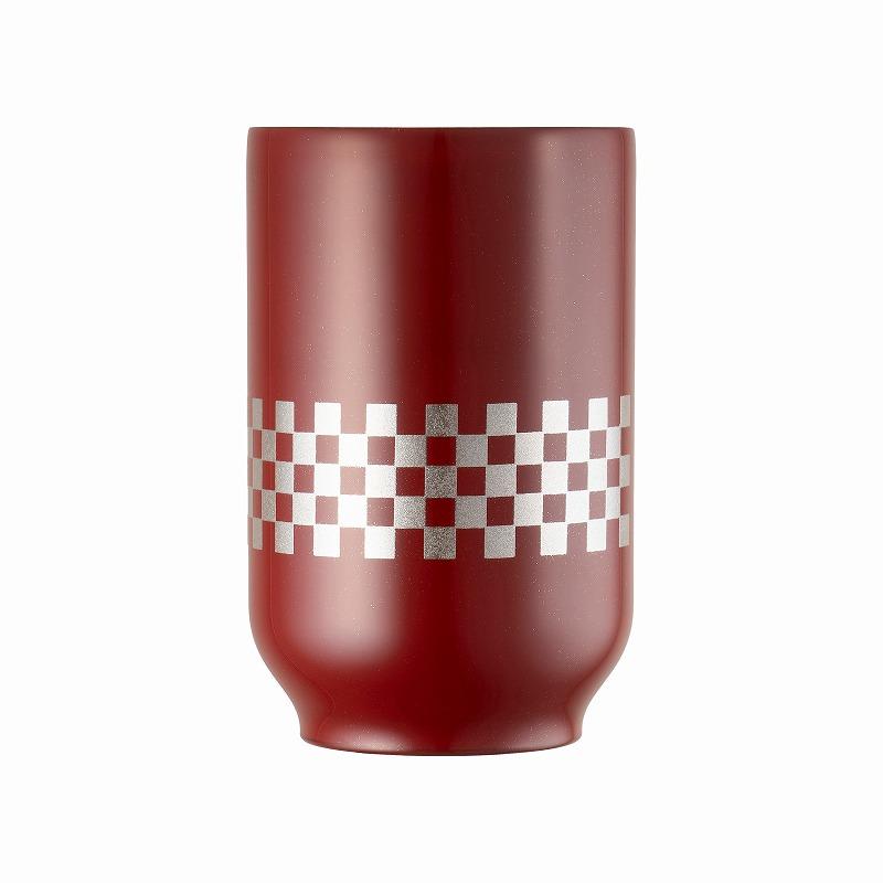 URUSHI Tea Tumbler_Ichimatsu Red