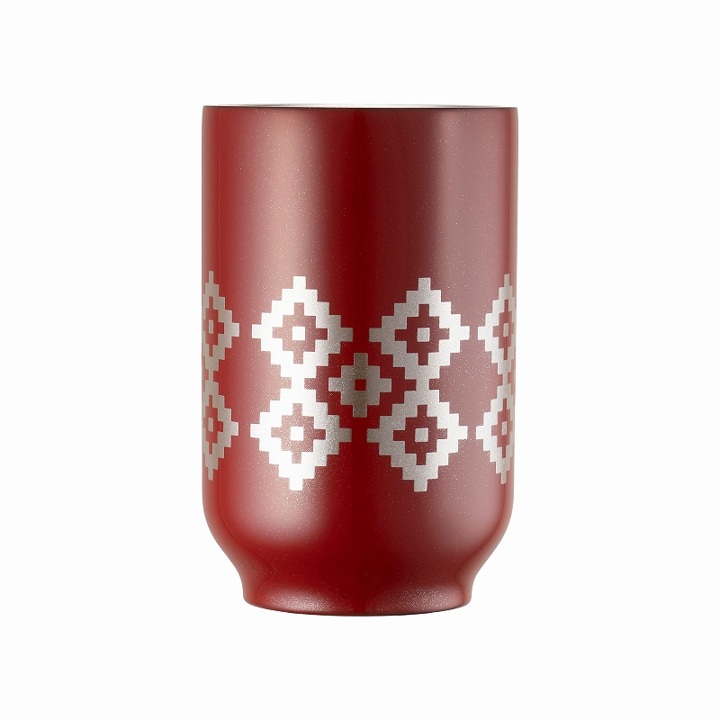 URUSHI TEA TUMBLER_KAKI NO HANA RED