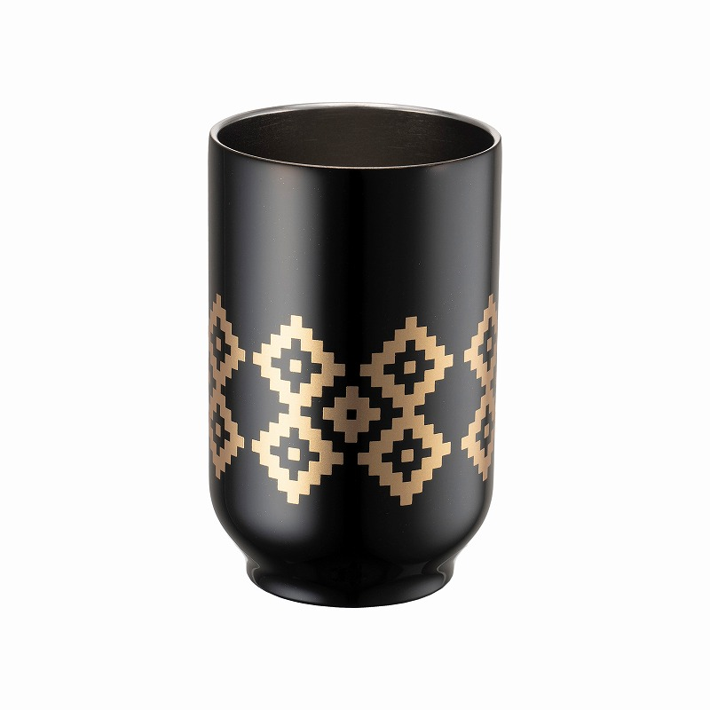 URUSHI TEA TUMBLER_KAKI NO HANA BLACK