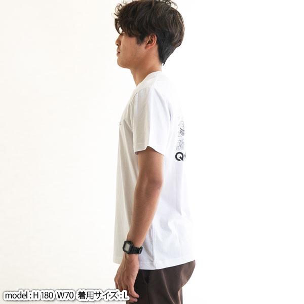 クイックシルバー Tシャツ メンズ バックプリント カタカナ ロゴ