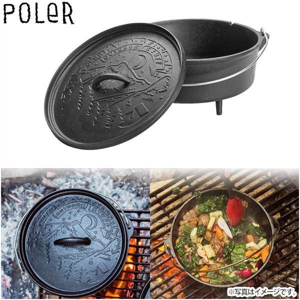 POLER ポーラー ダッチオーブン 10インチ 鍋 ディープ グランピング/アウトドア用品 キャンプ用 CAST IRON DUTCH OVEN