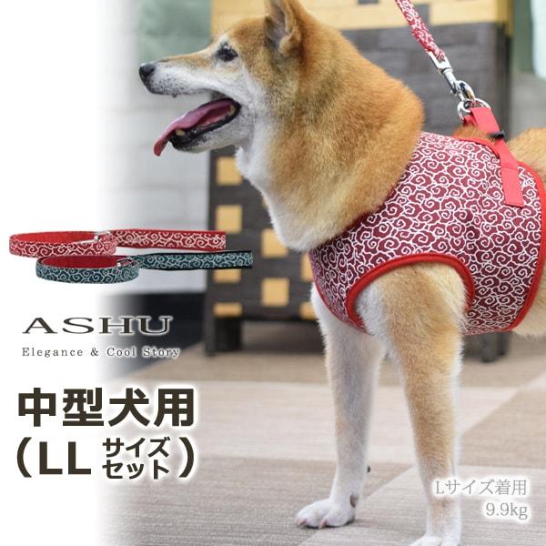 ASHUウェアハーネス 唐草セット LLサイズ(中型犬用)