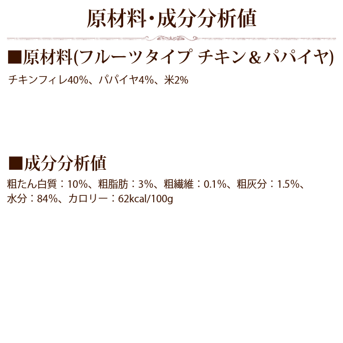 Schesir(シシア)/ドッグ フルーツタイプ チキン&パパイヤ缶
