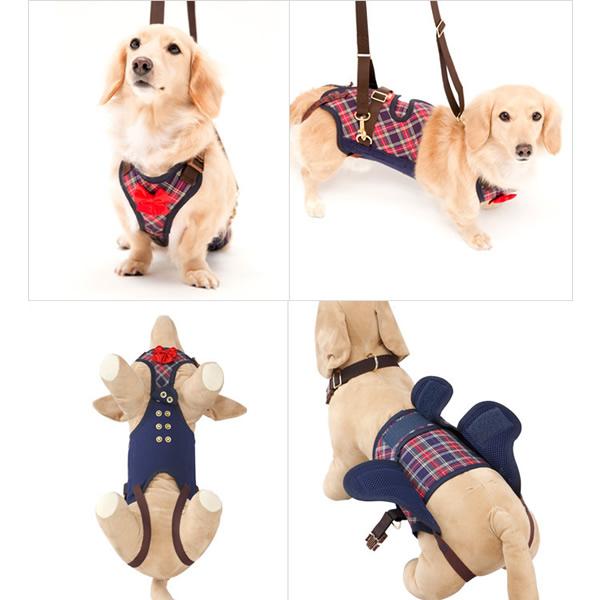 歩行補助ハーネス LaLaWalk 小型犬、ダックス用 サポーターパッド付き