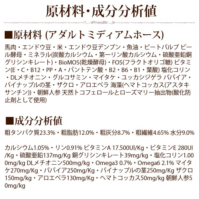 【お取り寄せ】FORZA10 デイリーフォルツァ ローグレイン ミディアムホース(中粒)  20kg (フォルツァディエチ)※お届けまで1週間程度
