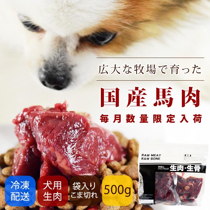 犬用 生馬肉 冷凍 国産馬肉 こま切れ 500g【a0301】※愛猫にもご利用いただけます