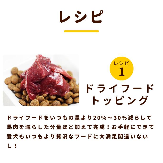 犬用 生馬肉 冷凍 国産馬肉 こま切れ 1kg【a0301】※愛猫にもご利用いただけます
