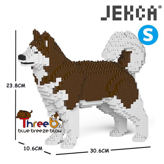 JEKCA ジェッカブロック (Sサイズ) アラスカン・マラミュート ST19PT51-M02