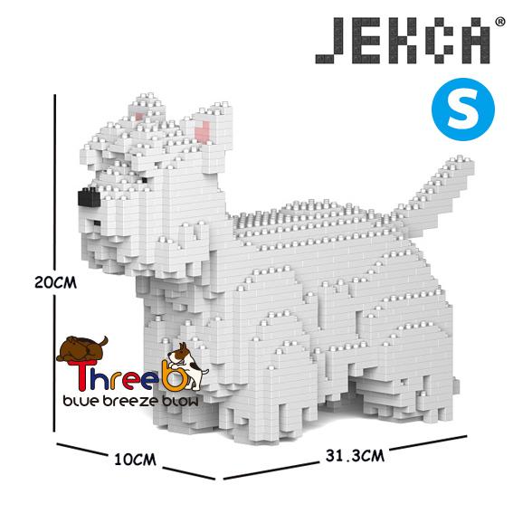 【JEKCA BLOC】ウエスト・ハイランド・ホワイト・テリア(S・M)