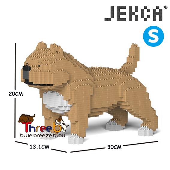 JEKCA ジェッカブロック (Sサイズ) アメリカンブリー ピットブル ST19PT43-M01